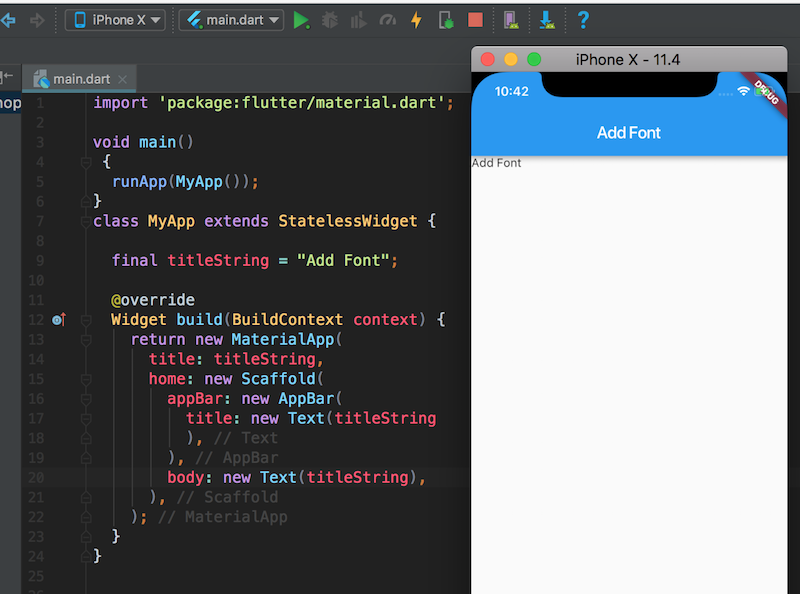 androidthai in th - Add Fonts to Text Flutter