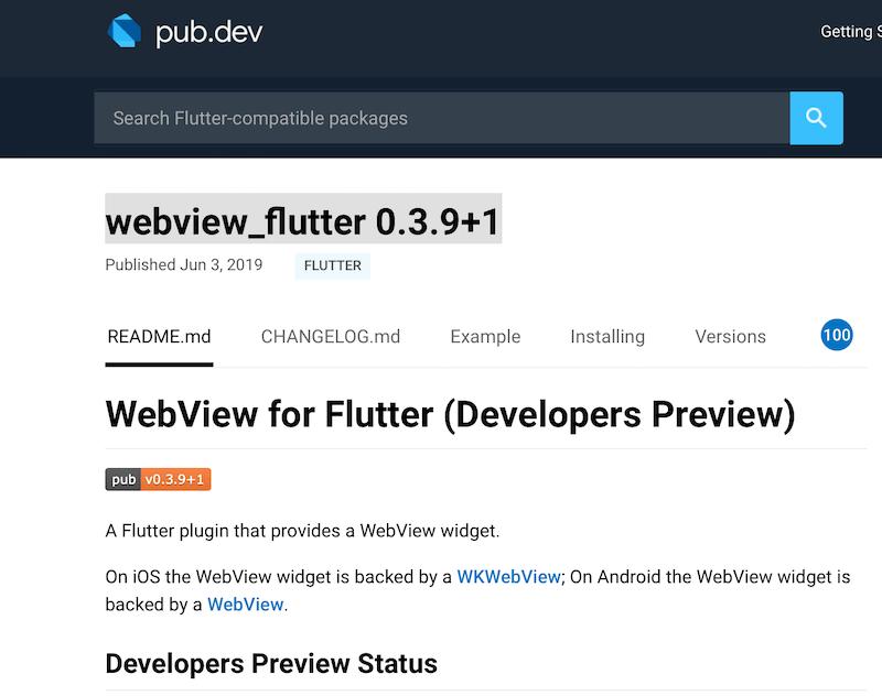 Webview Flutter Plugin