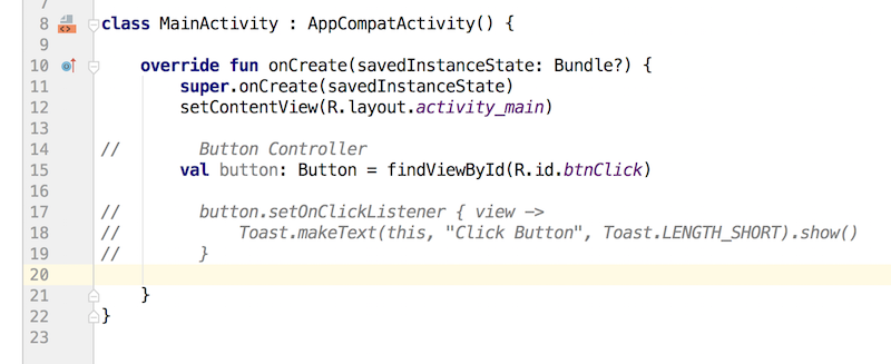 androidthai in th - Set OnClick Listener Type Implement on